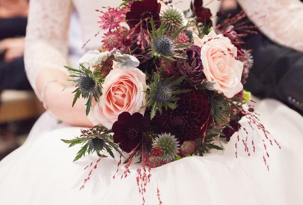 REAL BRIDE: Sophie in bespoke Caroline Castigliano