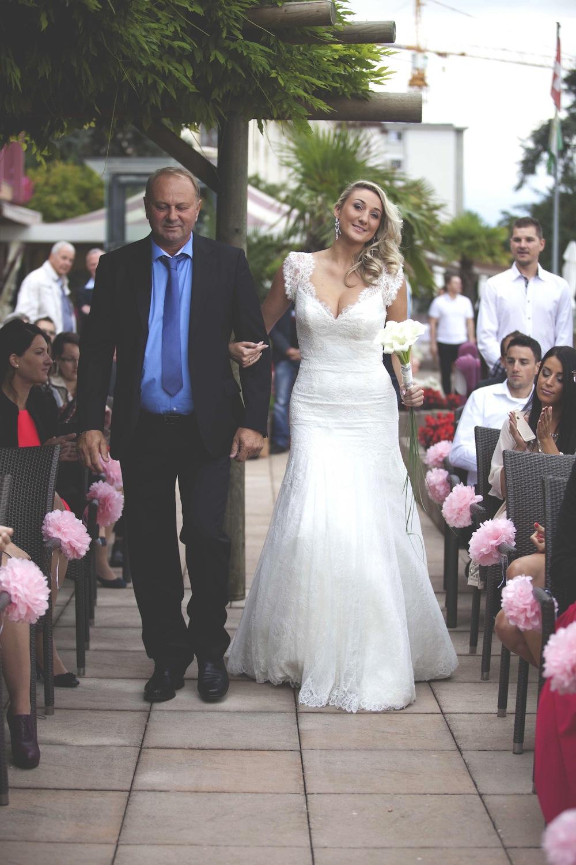 Wedding Ceremony, bride arrives